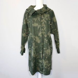 H&M/LOGG Green Floral Hooded Utility Jacket